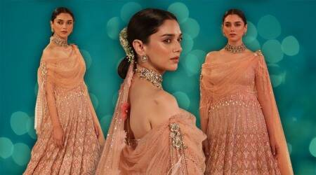 Aditi Rao Hydari, Tarun Tahiliani, India Couture Week, Tarun Tahiliani India Couture Week 2018, Aditi Rao Hydari fashion show, Aditi Rao Hydari Tarun Tahiliani, indian express lifestyle