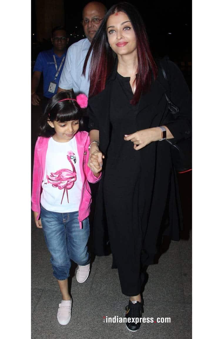 Aishwarya Rai Bachchan, Aishwarya Rai Bachchan latest photos, Aishwarya Rai Bachchan fashion, Aishwarya Rai Bachchan airport style, indian express, indian express news