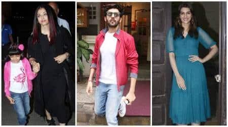 Aishwarya Rai Bachchan, Kartik Aaryan, Kriti Sanon