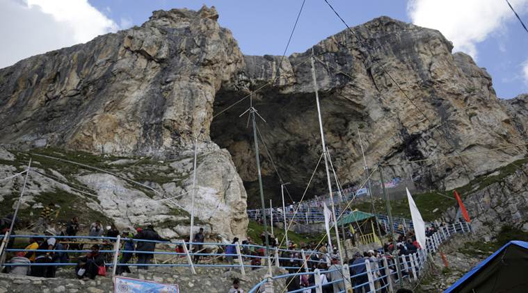 Amarnath Yatra 2018: As first batch makes its way to cave, worry over numbers this year