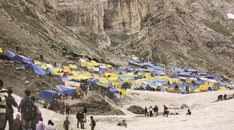 Amarnath yatra, Amarnath Yatra 2018, Amarnath yatra security, Amarnath yatra pilgirimage, Amarnath Yatra route, Amarnath Yatra trek, Jammu and Kashmir, Amarnath Yatra rains,