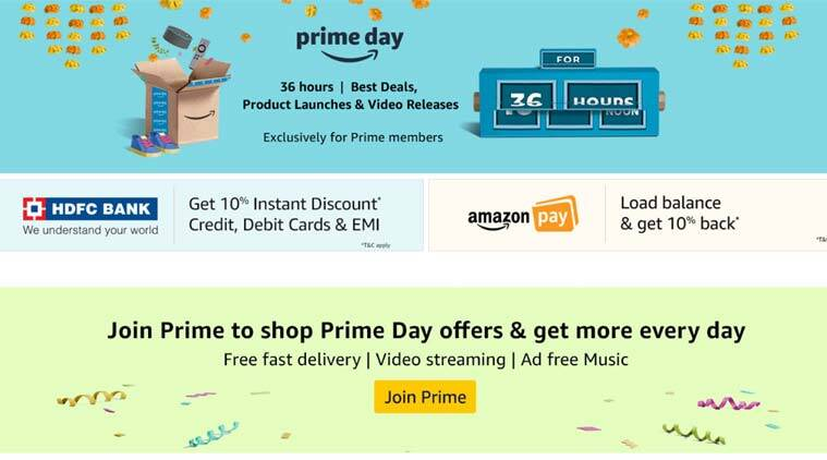 amazon prime day sale 2018 from july 16 for 36 hours top deals what to expect the indian express. Black Bedroom Furniture Sets. Home Design Ideas