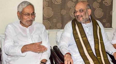 Nitish Kumar, Amit Shah bonhomie on show as BJP chief says parties will contest 2019 polls together