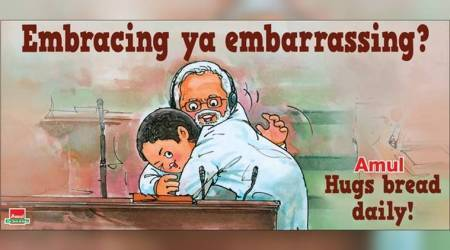 Amul features Rahul Gandhi's 'impromptu' hug to PM Modi, Twitterati praise their wit and sarcasm