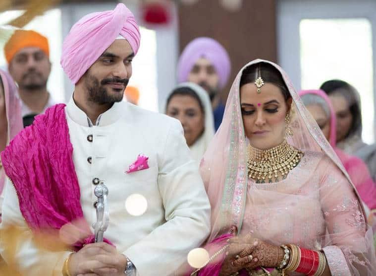 angad bedi neha dhupia wedding photos