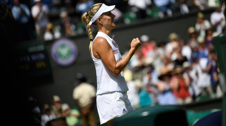 Angelique Kerber, Angelique Kerber Wimbledon, Wimbledon 2018, Angelique Kerber win, sports news, tennis, Indian Express