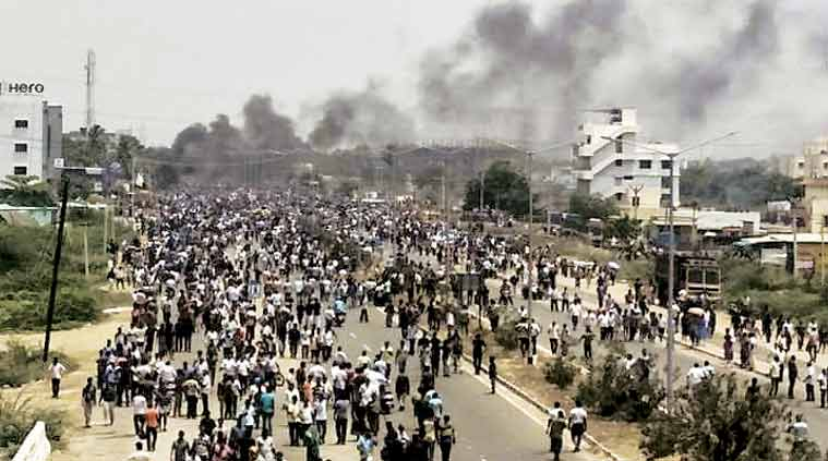 Anti-sterlite protests: 13 people were killed in the police firing at Tuticorin. (Express file photo)