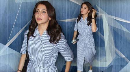 Anushka Sharma, Anushka Sharma latest photos, Anushka Sharma fashion, Anushka Sharma airport style, Anushka Sharma wrap around dress, indian express, indian express news