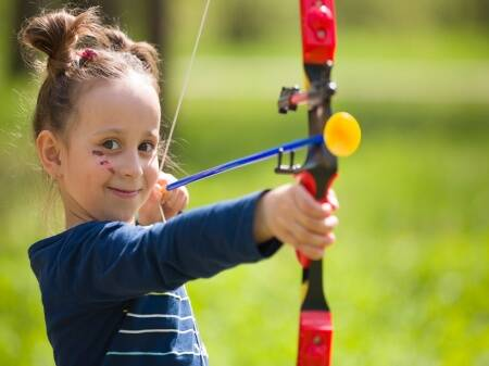 When your daughter wants to learn archery!