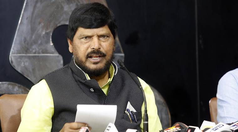 Ramdas Athawale slapped at public event in Maharashtra