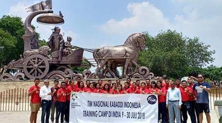 Indonesian kabaddi team in India on pilgrimage, exposure tour