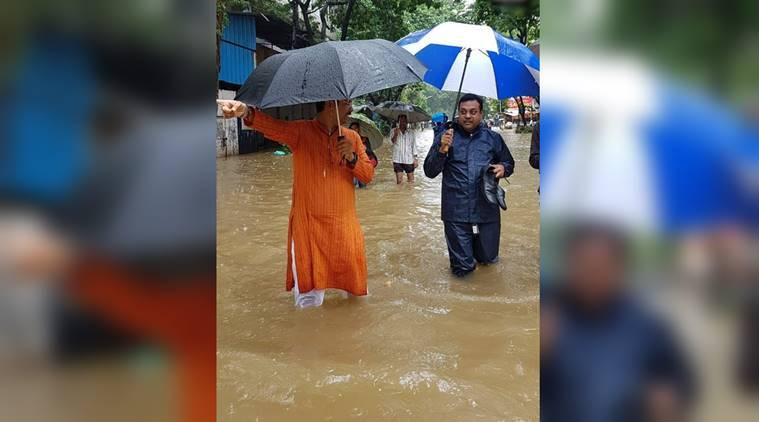 Mumbai rains, BJP spokesperson viral photo, Sambit Patra, Sambit Patra viral photo,