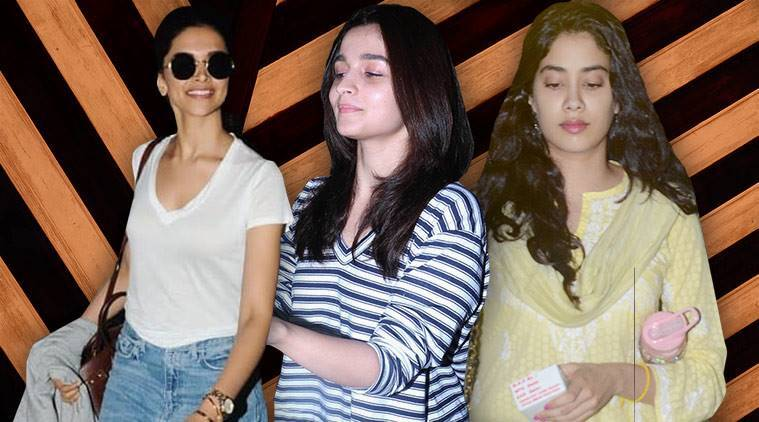 celeb fashion, Bollywood fashion, Deepika Padukone, Alia Bhatt, Janhvi Kapoor, Kriti Sanon, indian express, indian express news