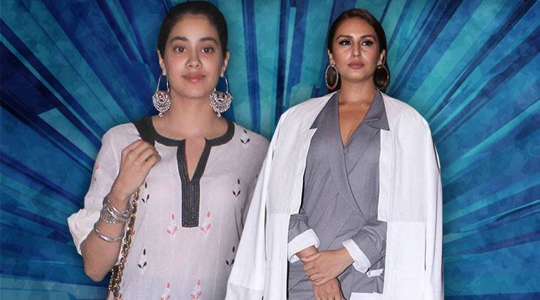 Bollywood fashion, celeb fashion, Janhvi Kapoor, Huma Qureshi, Esha Gupta, Kangana Ranaut, indian express, indian express news