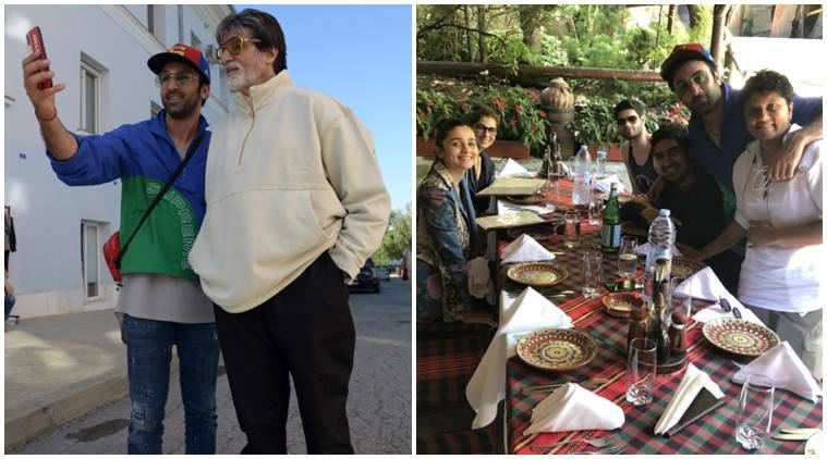 Image result for latest images of ranbir kapoor and amitabh bachchan from the set of brahmastra