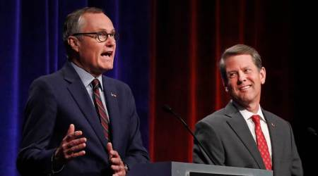 republican candidates for Georgia governor, Casey Cagle, Brian Kemp, runoff election, Donald Trump, US, Republican Party, GOP, World News, Indian Express