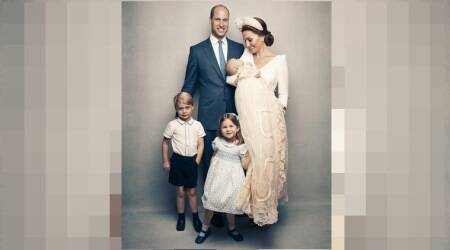 British royals release new photos to mark Prince Louis's christening