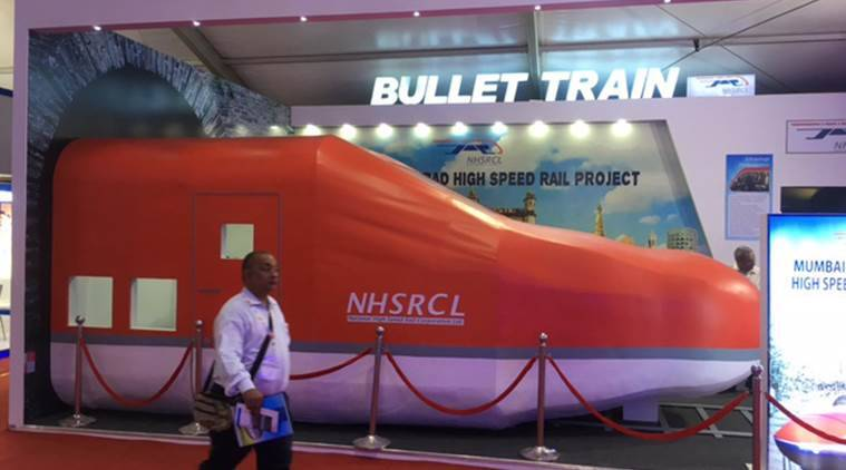 land acquired for bullet train, Bullet train, bullet train between Mumbai and Ahmedabad, NHSRCL, Indian Express