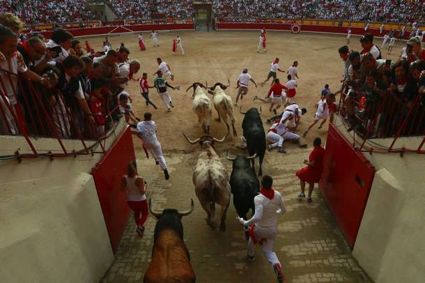 Spain's annual bull racing festival kicks off amid heavy rain