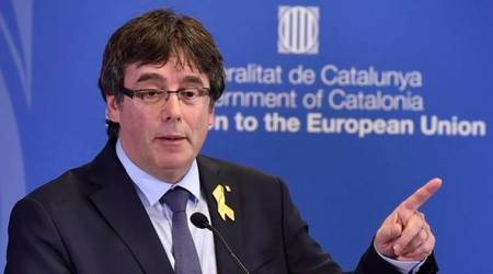 Ex-Catalan chief Puigdemont returns to Belgium fromGermany