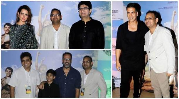 Akshay Kumar, Kangana Ranaut, Mukesh Ambani, Amit Shah and Prasoon Joshi attended a special screening of short film Chalo Jeete Hain, which is inspired by Prime Minister Narendra Modi's childhood.
