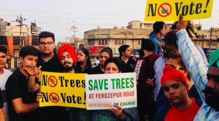 Protest against tree felling intensifies in Ludhiana