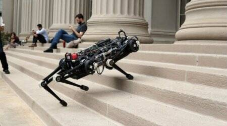 The Cheetah 3 robot can run and jump without seeing