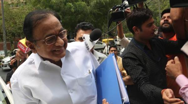 p chidambaram outside cbi headquarters in connection with aircel-maxis case