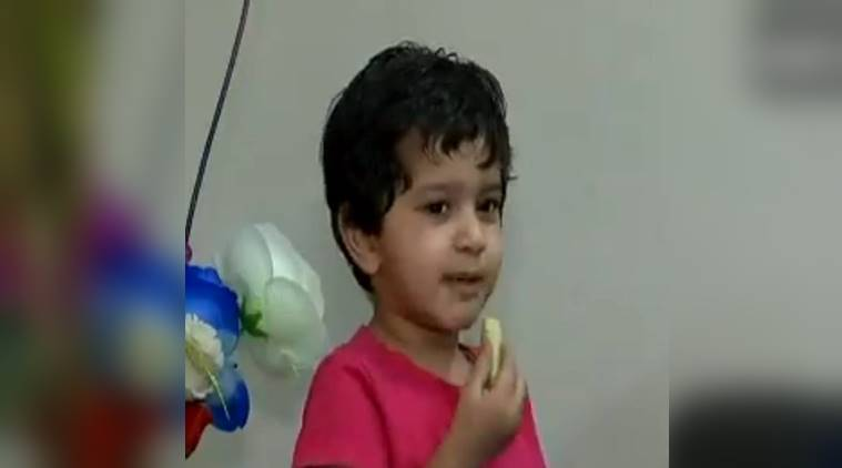 2-year-old Panchkula recites states, Amayra Gulati recites indian states, all indian states in less than a minute, child viral video, child setting record video, indian express, indian express news