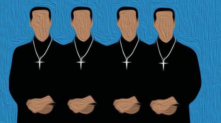There have been other instances where the Church is seen to have cited the canon law to side with priests, otherwise liable to be tried for cases under the civil and criminal laws. (Illustration by Vishnu PP)