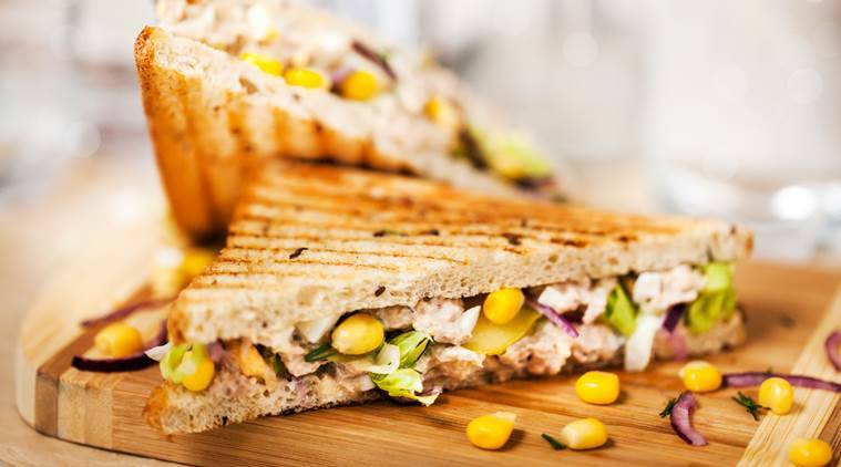 easy recipes, sandwich recipes, corn sandwich recipes, indian express, indian express news