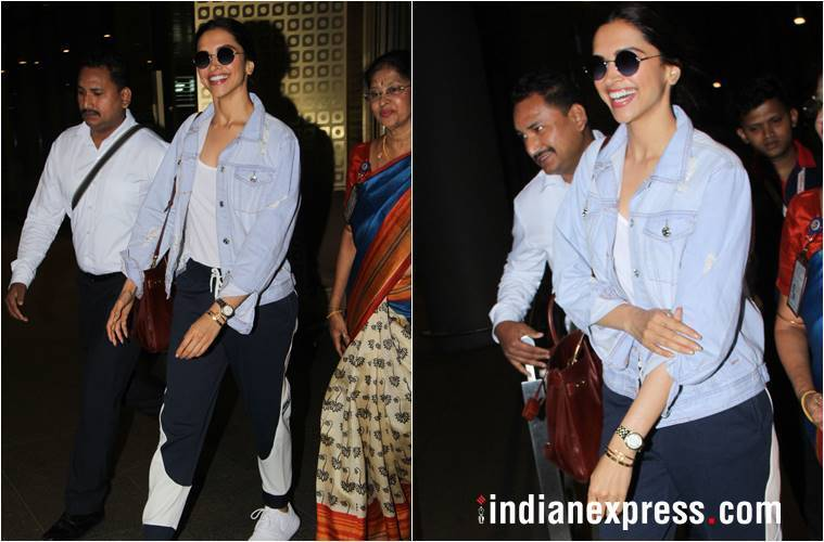 Deepika Padukone, Deepika Padukone latest photos, Deepika Padukone fashion, Deepika Padukone style of the airport, Janhvi Kapoor's latest photos, Janhvi Kapoor Fashion Scarf, Raveena Tandon's Latest Haircuts, Indian Express, Indian Express News