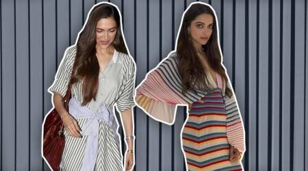 Learn from Deepika Padukone on how to rock striped outfits