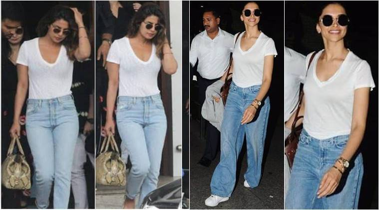 Deepika Padukone, Deepika Padukone latest photos, Deepika Padukone fashion, Deepika Padukone airport style, Priyanka Chopra latest photos, Priyanka Chopra fashion, Priyanka Chopra airport style, Priyanka Chopra Nick Jonas, indian express, indian express news