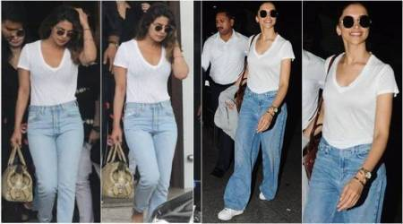Deepika Padukone or Priyanka Chopra: Who wore the classic 'white tee-blue jeans' combo better?