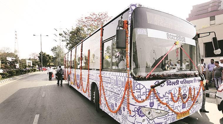 electric bus, Delhi electric bus, Delhi bus service, Delhi govt, Manish sisodia, delhi news, Indian Express news