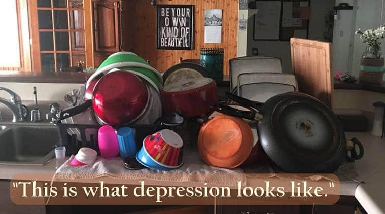 depression, woman's post on depression, mental illness, talks about depression,