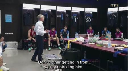 WATCH: France manager Didier Deschamps gives motivational speech at half time during World Cup final