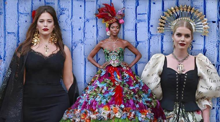 Dolce and Gabbana, Dolce and Gabbana Alta Moda, Dolce and Gabbana latest collection, Dolce and Gabbana Naomi Campbell, Dolce and Gabbana Kitty Spencer, Ashley Graham, indian express, indian express news