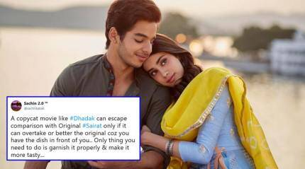 Dhadak review: Janhvi Kapoor-Ishaan Khatter film fails to impress twitterati; many wish to see Sairat again