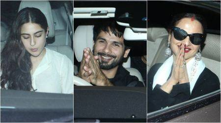 Dhadak screening: Shahid Kapoor, Sara Ali Khan and Rekha watch Janhvi and Ishaan's movie
