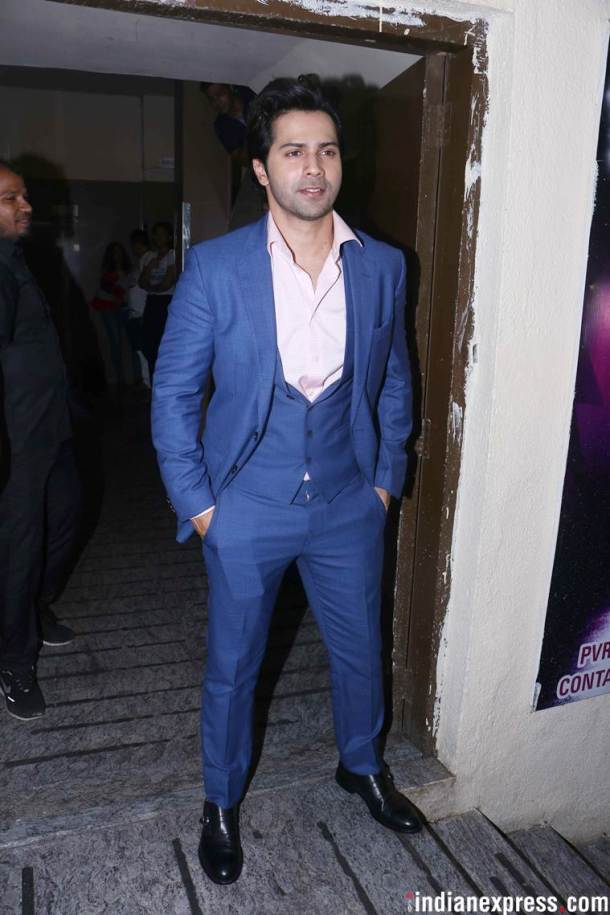 varun dhawan at dhadak screening