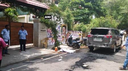 Petrol bomb hurled outside TTV Dhinakaran's residence; driver, photographer injured
