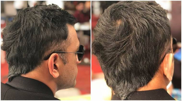 Photos Ms Dhoni Sports Trendy V Hawk Hairstyle Sports News The