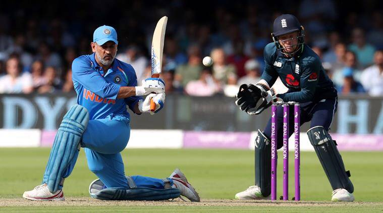 MS Dhoni, MS Dhoni runs, MS Dhoni batting, MS Dhoni India, India vs England, sports news, cricket, Indian Express
