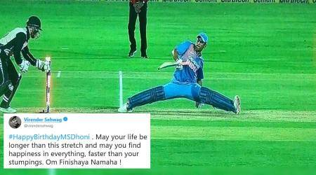 Happy Birthday MS Dhoni: Virender Sehwag's punny wish wins hearts onTwitter
