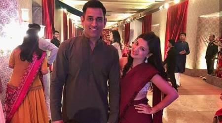 MS Dhoni attends wedding with Sakshi, Ziva in Mumbai; see photos