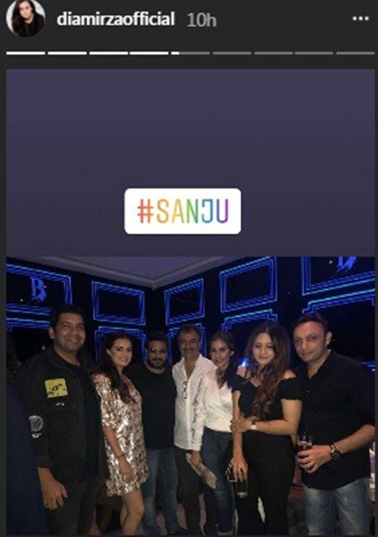 sanju success party photos