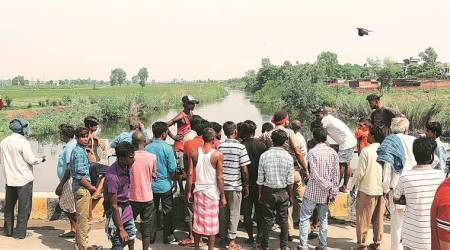 """""""Once the water level of Sakaltodi river, which flows nearby, receded, their bodies were found 13 km from the village on Tuesday evening,"""" he added. (Representative Image)"""