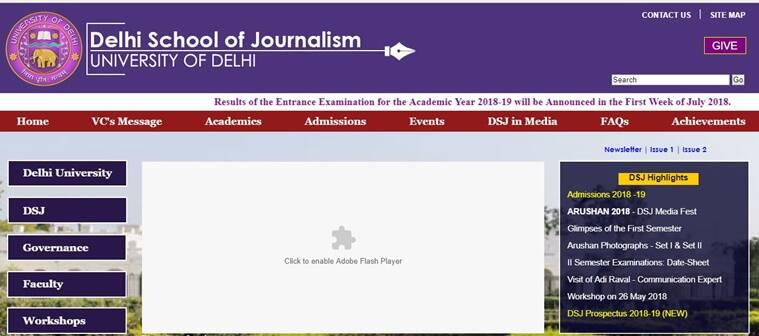 du journalism syllabus • syllabus for admission test to the b a (h) journalism will be specified and placed on the delhi university website medium of instruction shall be english • the centres of examination shall be allocated by the university of delhi only.
